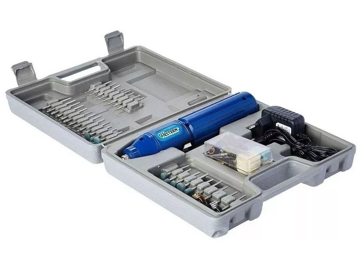 Micro Retifica á Bateria 3,6v Western R-60 Sem Fio