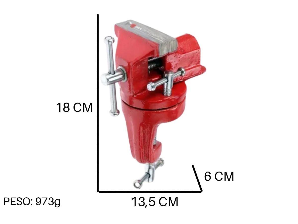 Mini Torno Com Base Giratória 50 mm Western G-50