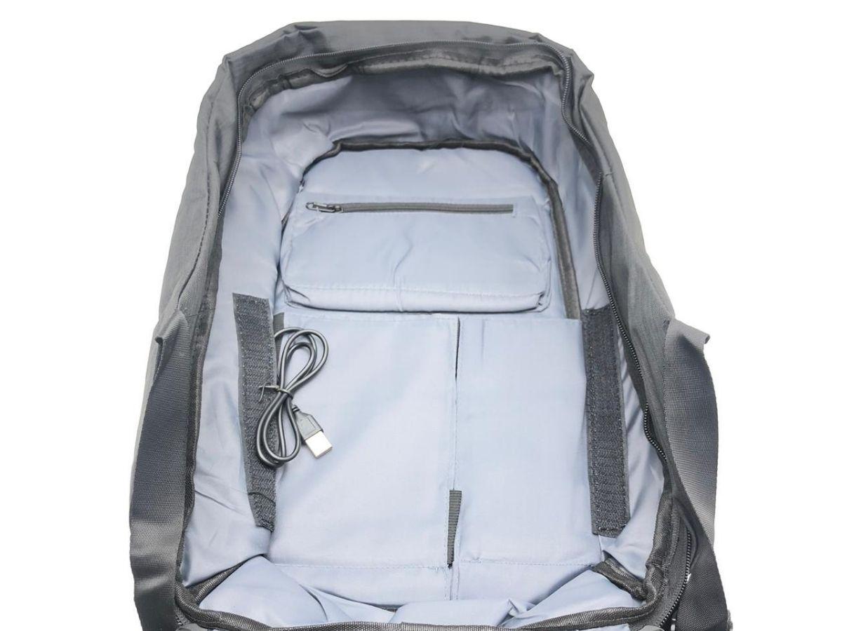 Mochila Anti Furto Para Notebooks Made Basics MA-1P Usb