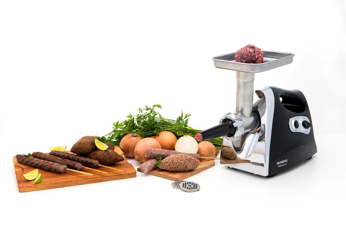Moedor De Carne Elétrico Mondial Mc-03 500w Com Acessórios