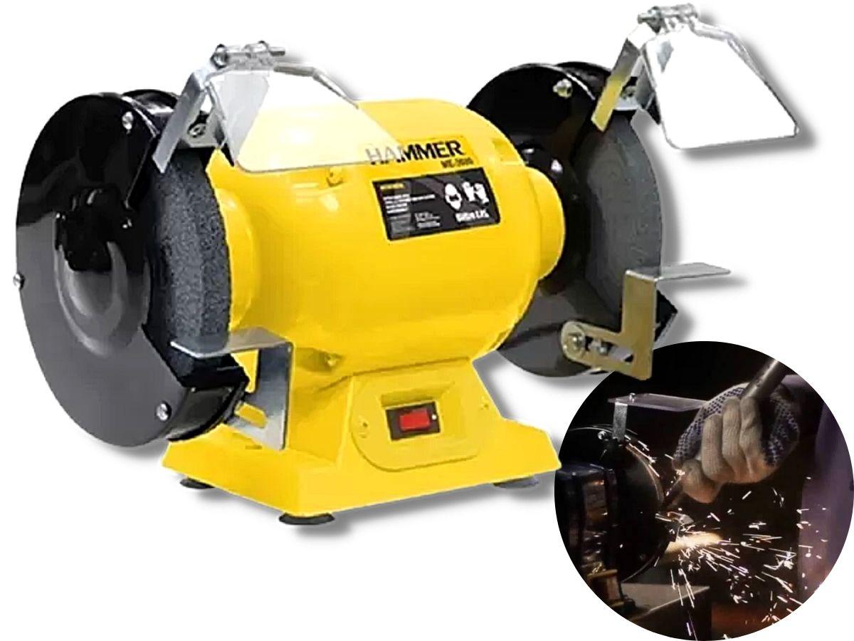 Moto Esmeril De Bancada 360w Hammer Me-3600 6 Polegadas Bivolt