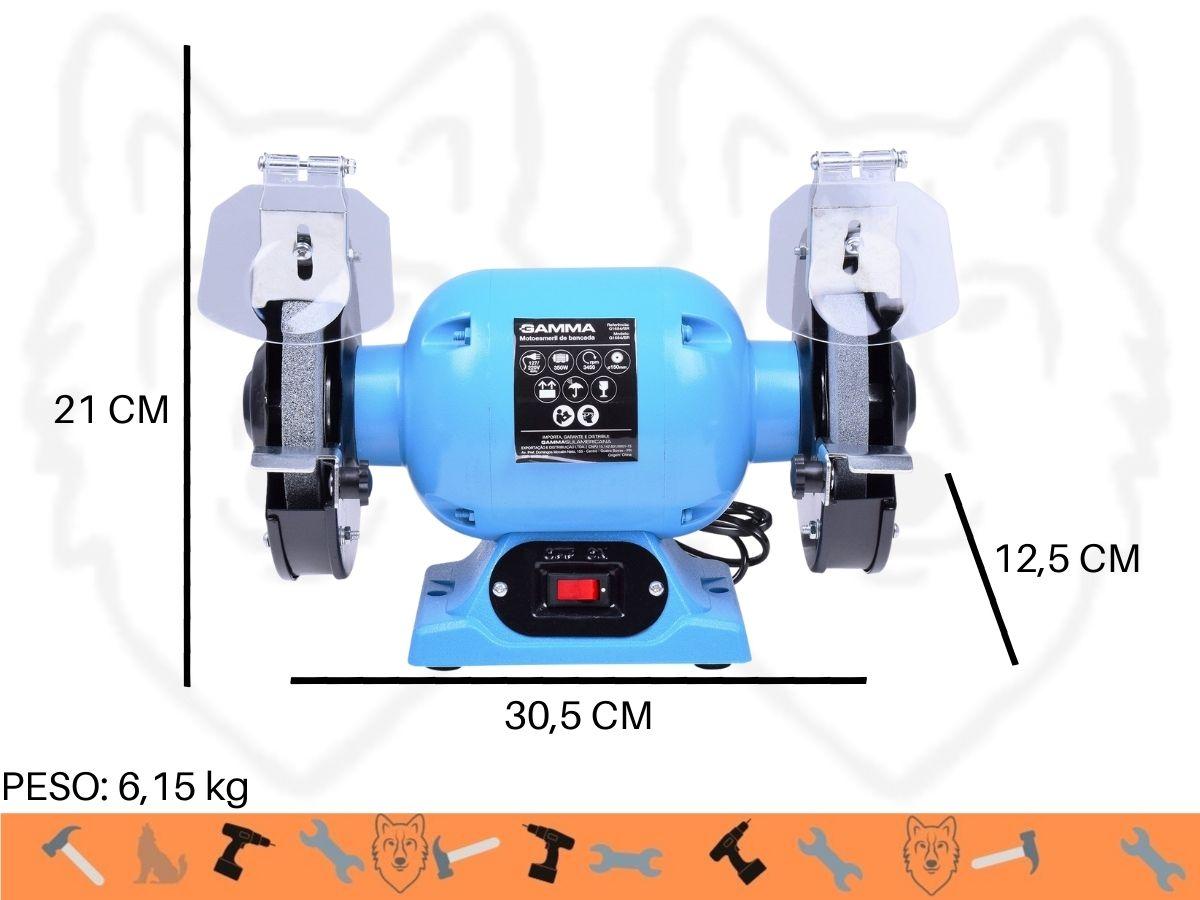 Moto Esmeril De Bancada 350w Gamma G1684/BR 6 Polegadas Visor De Proteção Bivolt