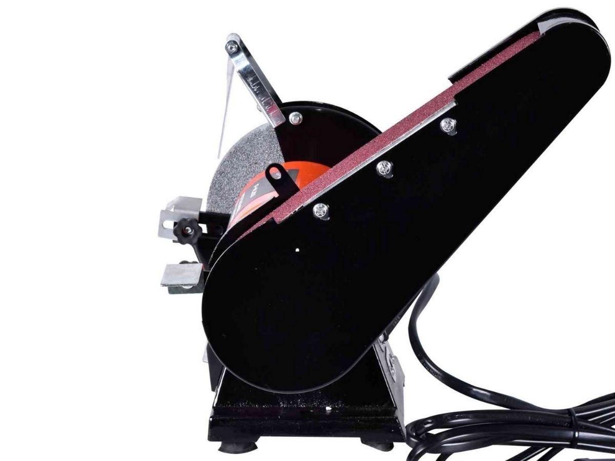 Moto Esmeril De Bancada 200w Infinity If-Ml200 Bivolt Com Lixadeira De Cinta