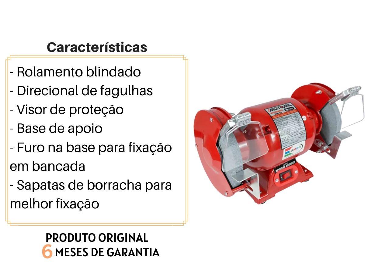 Moto Esmeril De Bancada 360w Motomil Mmi-50 6 Polegadas