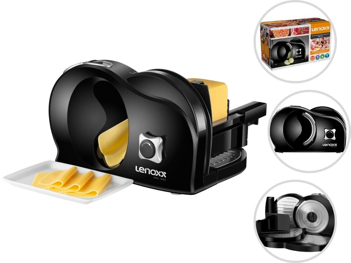 Multifatiador Cortador De Alimentos Lenoxx Pfa-463 Pro Inox 3 Velocidades