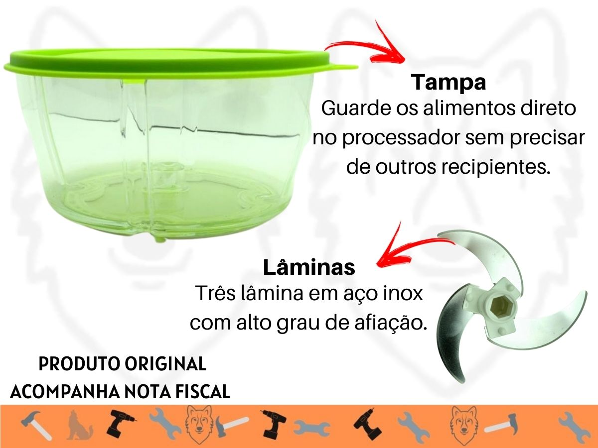 Multiprocessador Manual Clink CK-3403 Três Lâminas Inox