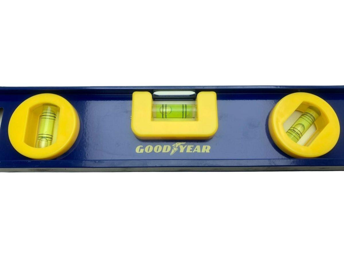 Nível Com Base Magnética Goodyear GY-LV-5025 30 Cm