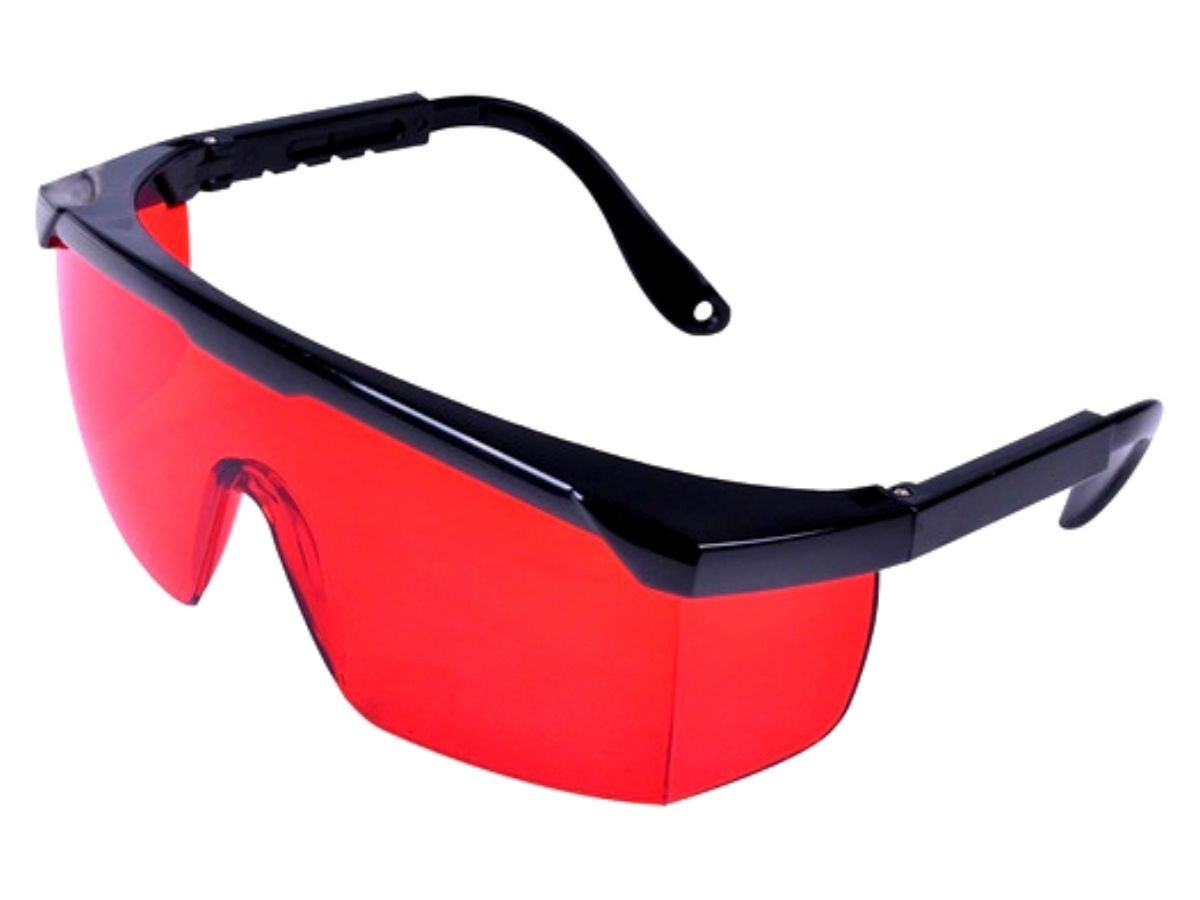Óculos De Proteção Vonder Foxter Vermelho Proteção UVA e UVB
