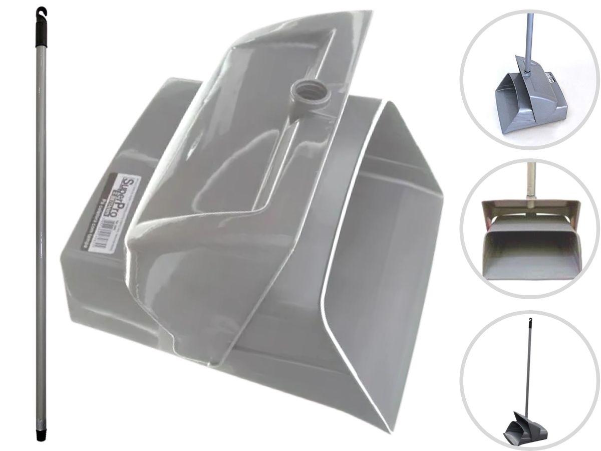 Pá De Lixo/Coletora Com Tampa Betanin 9260 Cinza