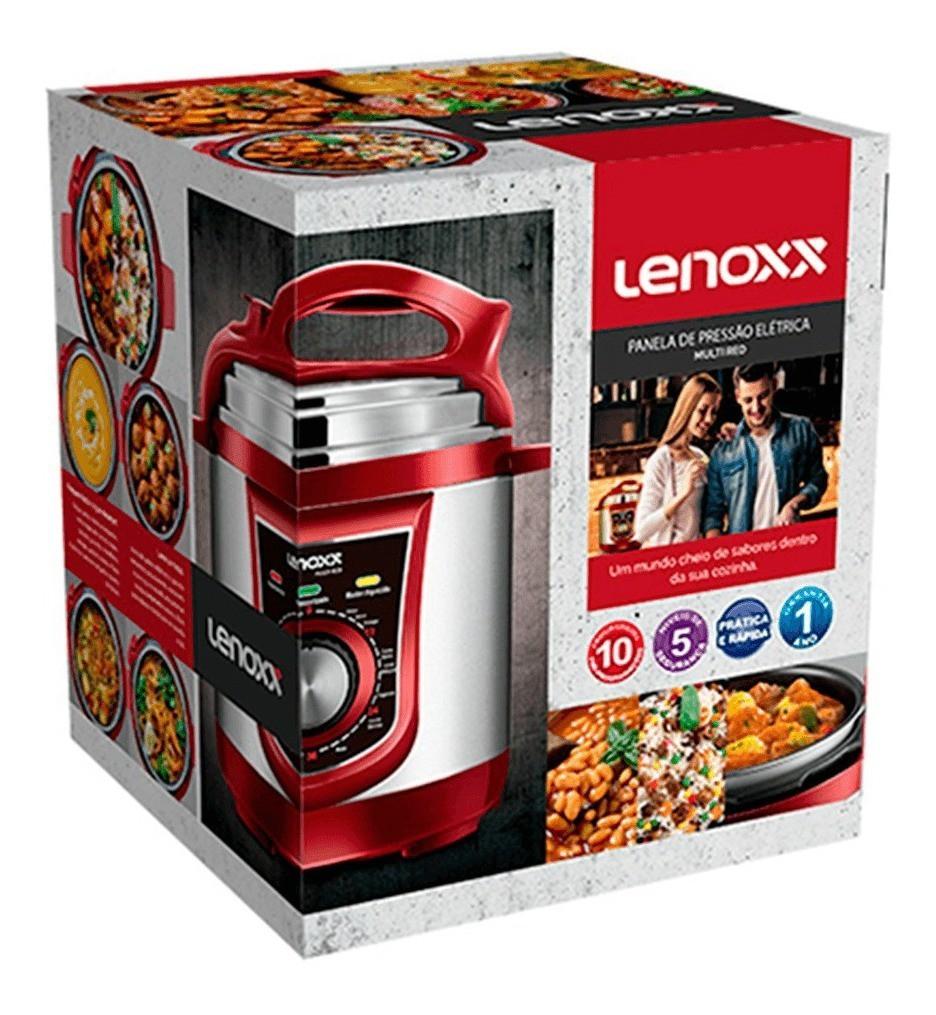 Panela De Pressão 3 Litros Elétrica Lenoxx Ppp-163 Multi Red Inox