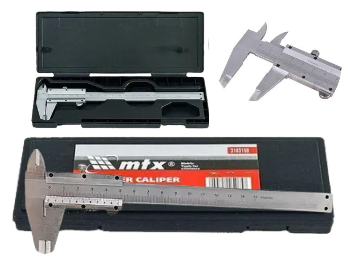 Paquímetro De Metal 150mm MTX 3163159 Aço Carbono