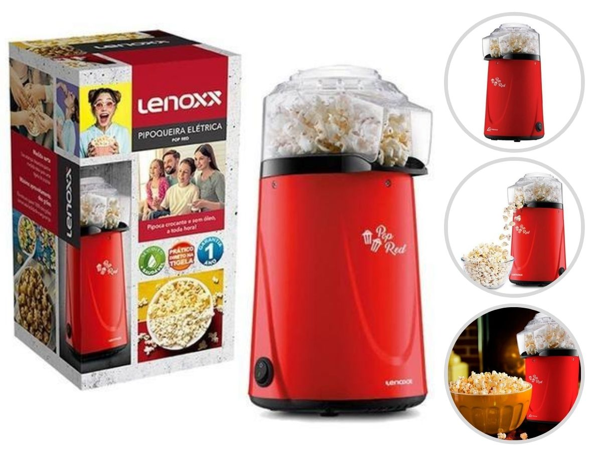 Pipoqueira Elétrica Lenoxx Ppc-953 Pop Red