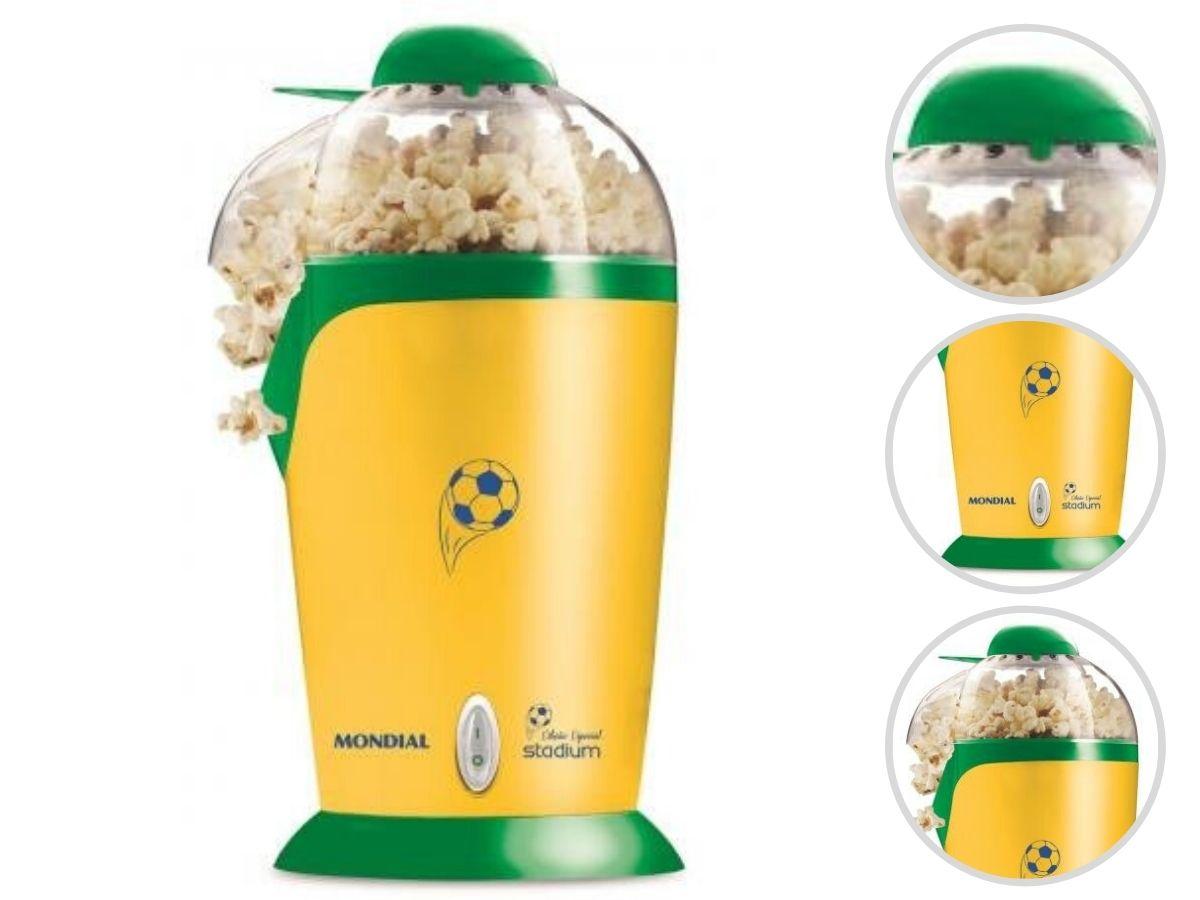 Pipoqueira Elétrica Mondial Pp-02 Edição Especial Stadium 0% Gordura
