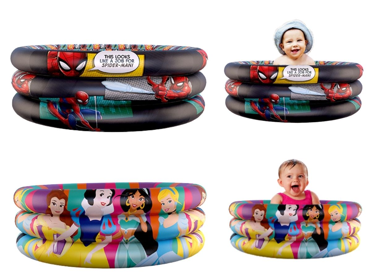 Piscina Inflável Infantil Etitoys 100 Litros 86X20 Cm Desenhos Famosos