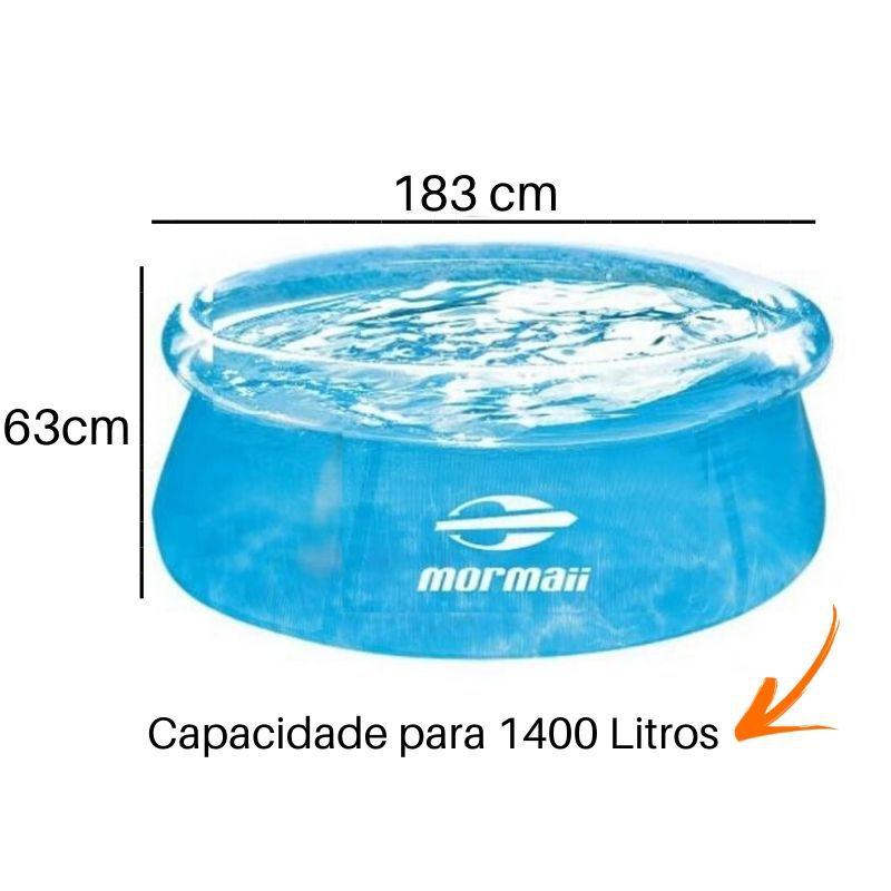 Piscina Inflável Mormaii Azul 1400 Litros
