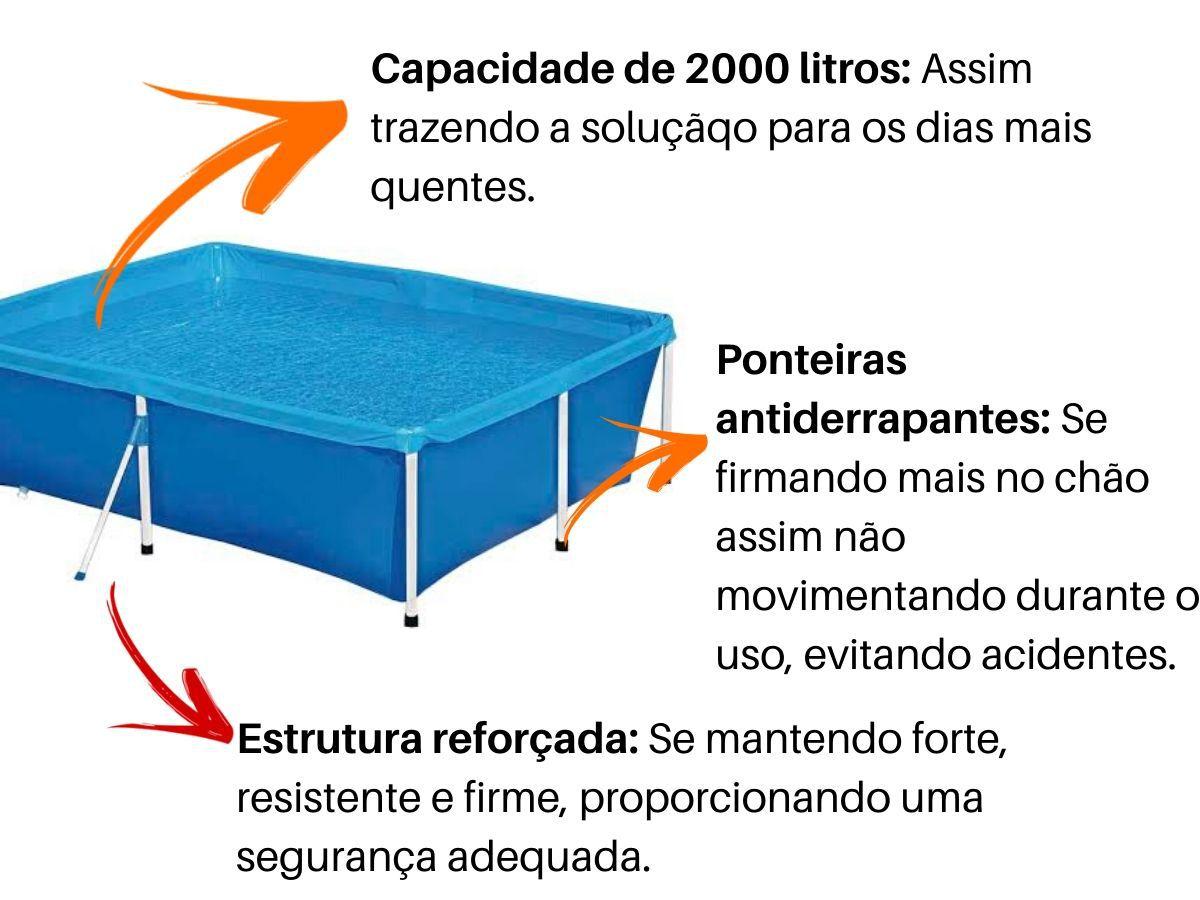 Piscina Mor Standard 2000 Litros Estrutura Reforçada