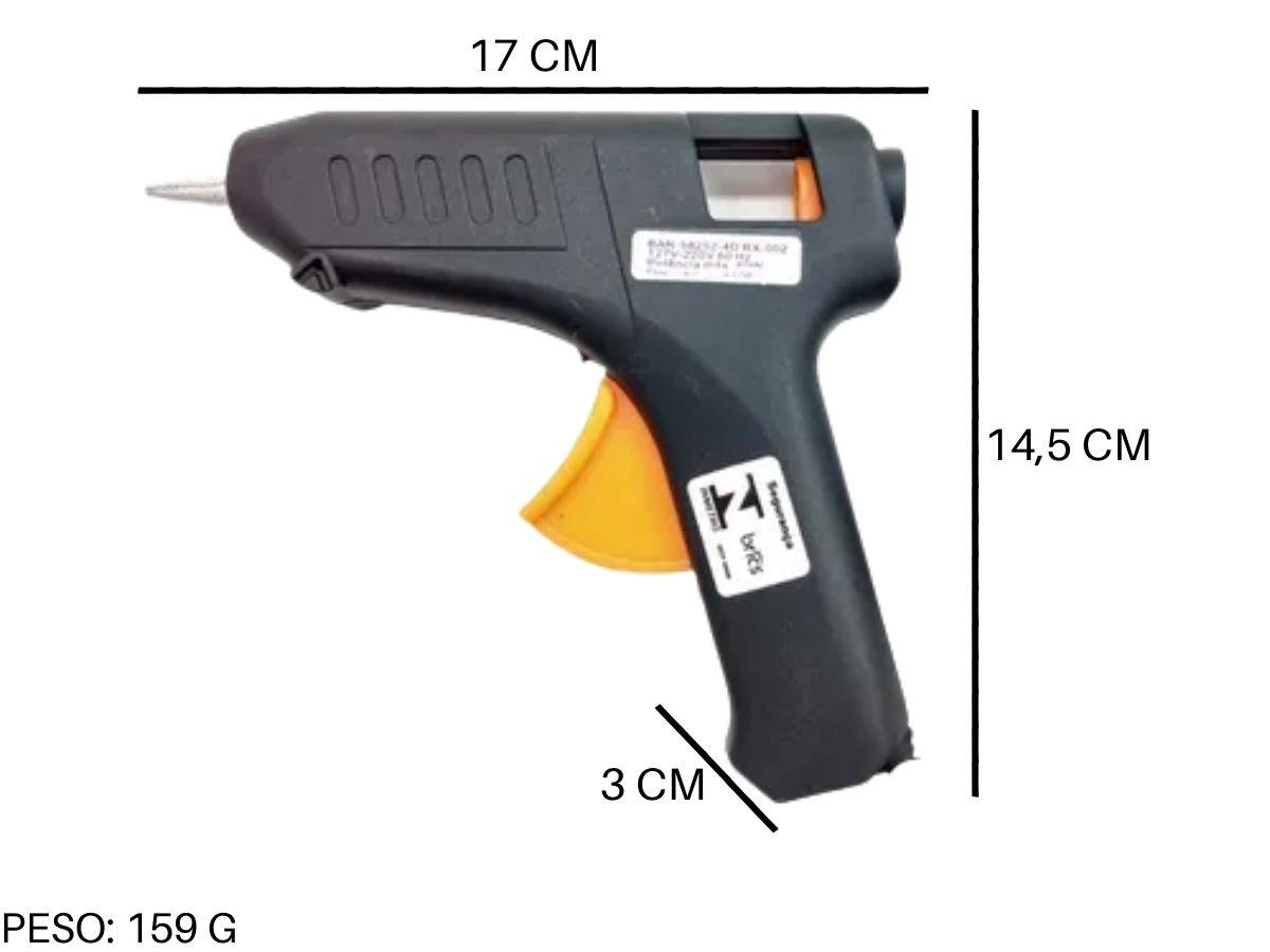 Pistola De Cola Quente Barcelona BAR-58252-4D 40w Bivolt