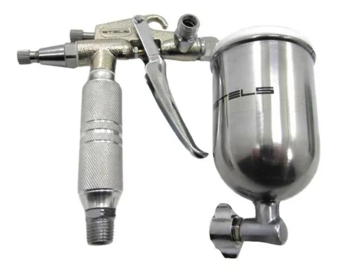 Pistola De Pintura Com Tanque Alto Encaixe de Rosca 1/4 NPT Stels 5731855