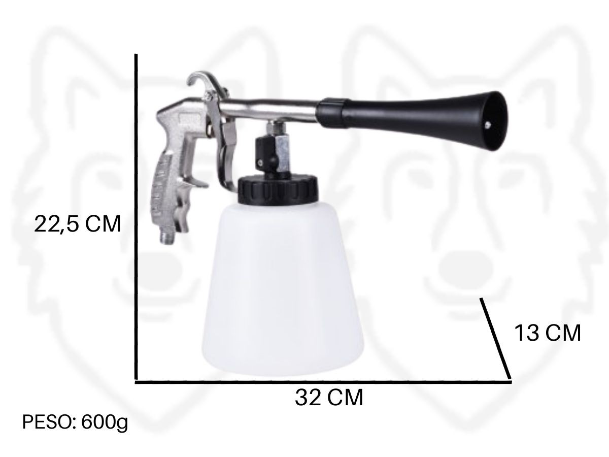 Pistola Tornadora Para Limpeza Pneumática Infinity 1L Profissional