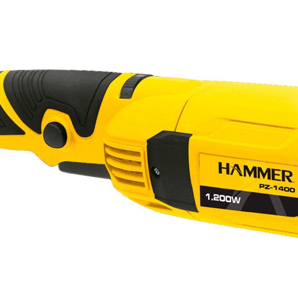 Politriz Angular 7 Pol. 1200w Hammer Gy-Pz-1400 Série Premium
