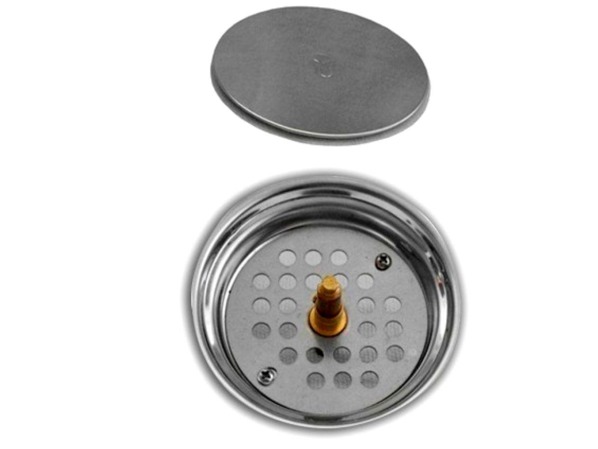 Ralo Click 10x10cm Redondo Em Aço Inox Sistema Inteligente Para Banheiro GlobalMix - GH054