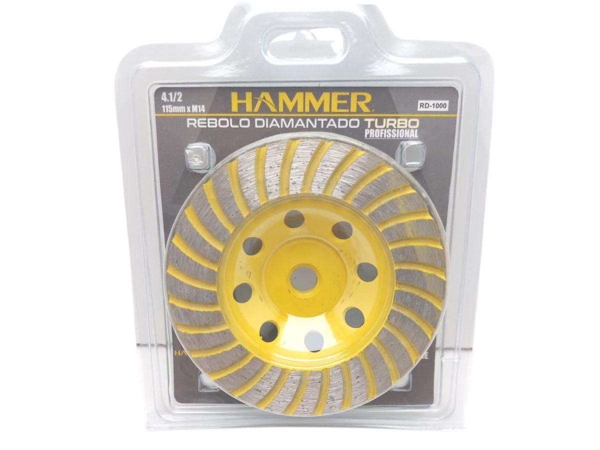 Rebolo Diamantado Turbo Hammer RD-1000 4.1/2 Pol.