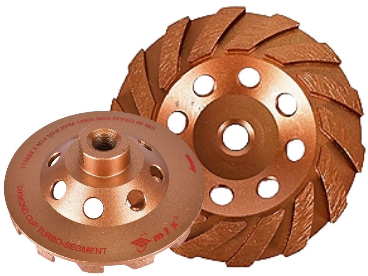 Rebolo Diamantado Turbo Segmentado MTX 729139 4.1/2 Pol.