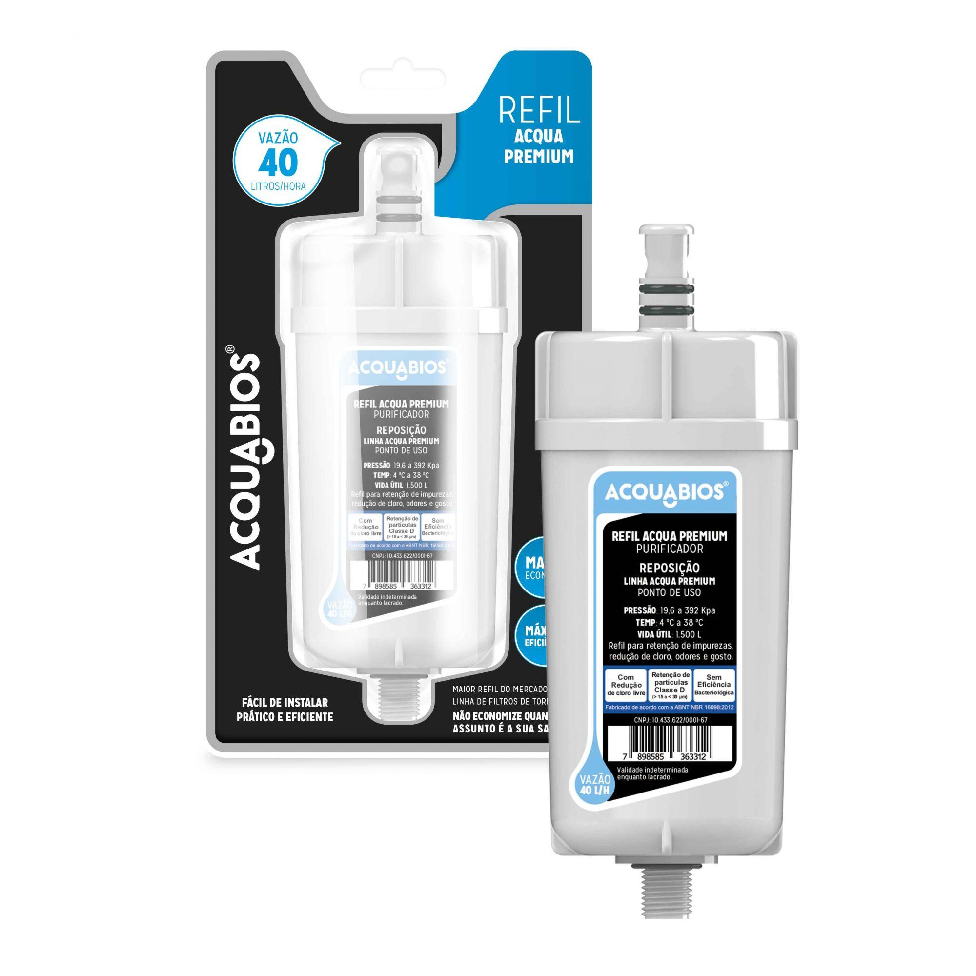 Filtro Refil Para Torneira Premium Acquabios Acqua Premium