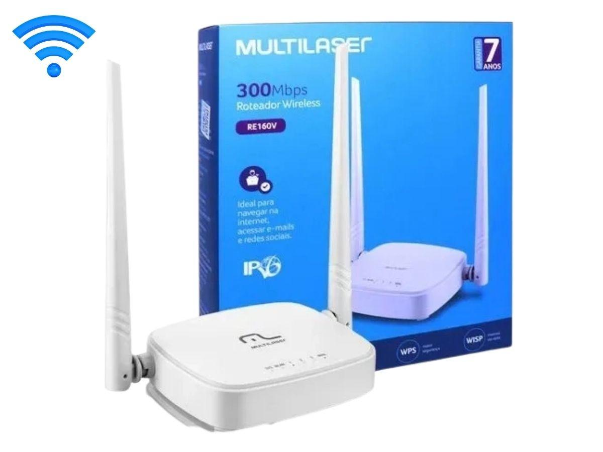 Roteador Wifi Multilaser RE160V 300Mbps 2 Antenas