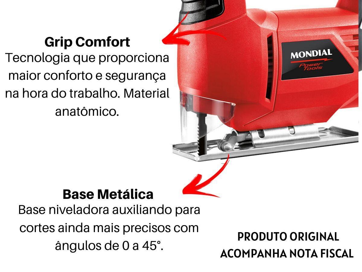 Serra Tico Tico 400w Mondial Fst-03 Alumínio Madeira e Aço