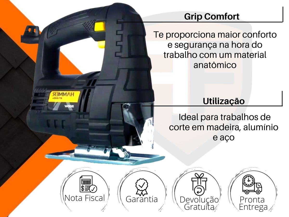 Serra Tico Tico 500w Hammer St-500 Grip Emborrachado