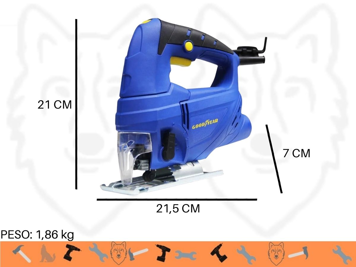 Serra Tico Tico 600w Goodyear Gy-Js-200003 Velocidade Variável Uso Profissional