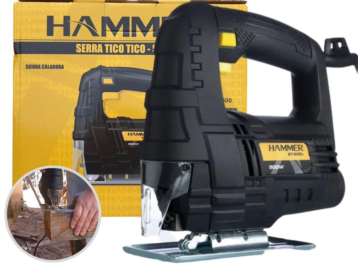 Kit Serra Tico Tico Hammer ST-500 500w + Furadeira Parafusadeira 12v Hammer PLI-10