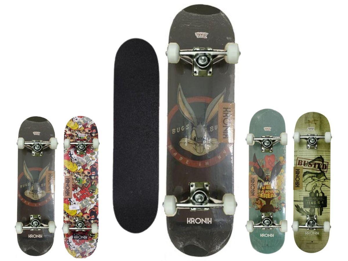 Skate Semi Profissional Montado Bel Kronik 402106 Looney Tunes