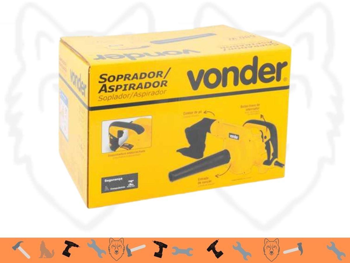 Soprador Aspirador 680w Vonder Sav-680 Com Tubo e Coletor
