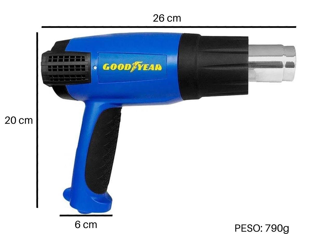 Soprador Térmico 2000w Goodyear Gy-Hg-48300-1 4 Bicos