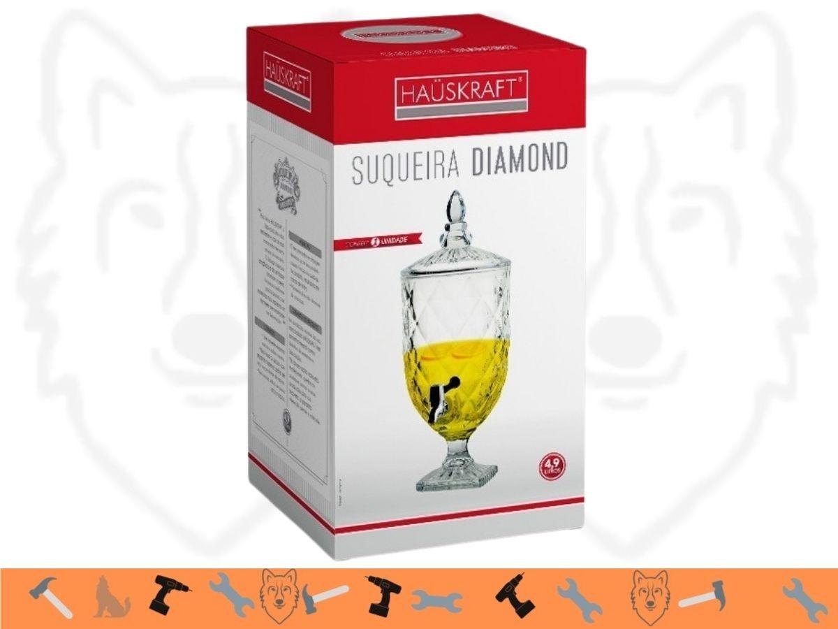 Suqueira De Vidro Hauskraft Diamond SUQD-018 4,9 L
