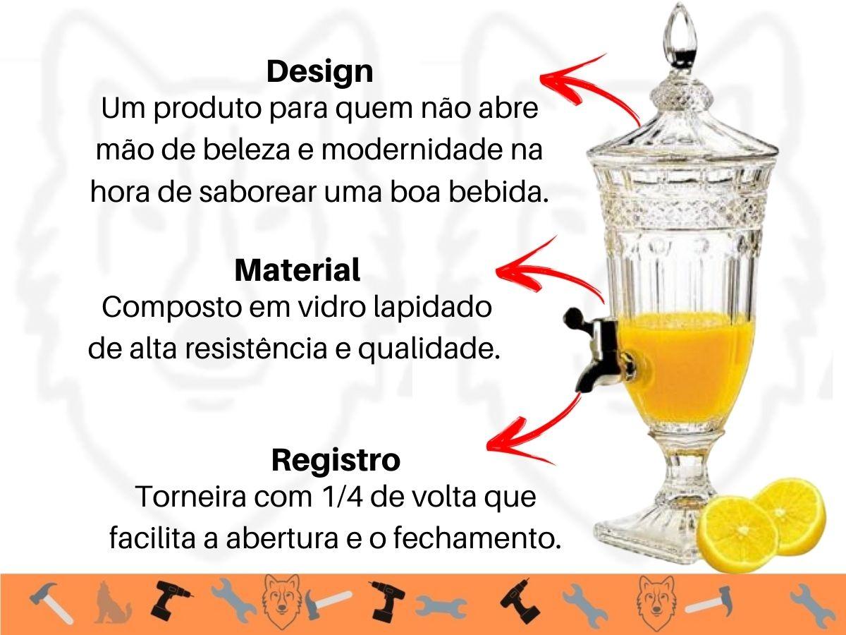 Suqueira De Vidro Hauskraft Queen SUQQ-009 1,8 L