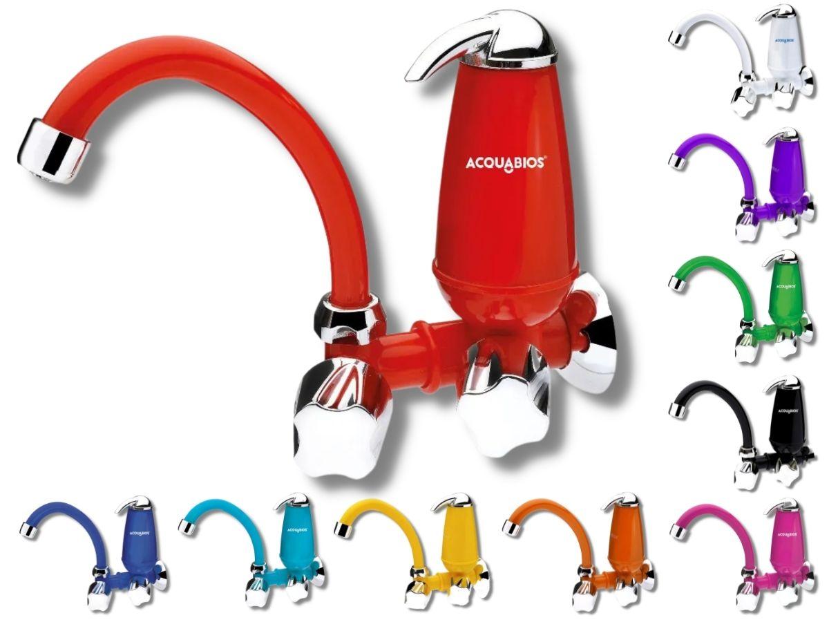 Torneira Com Filtro Acquabios E-05 Colors Bica Móvel Retrô