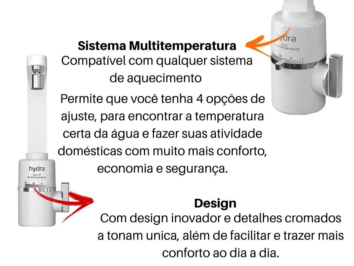 Torneira Elétrica Hydra Slim 4T Parede De Cozinha