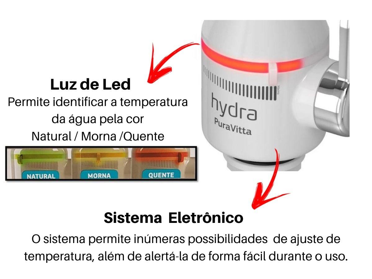 Torneira Eletrônica Hydra Pura Vitta De Cozinha Branca Bancada