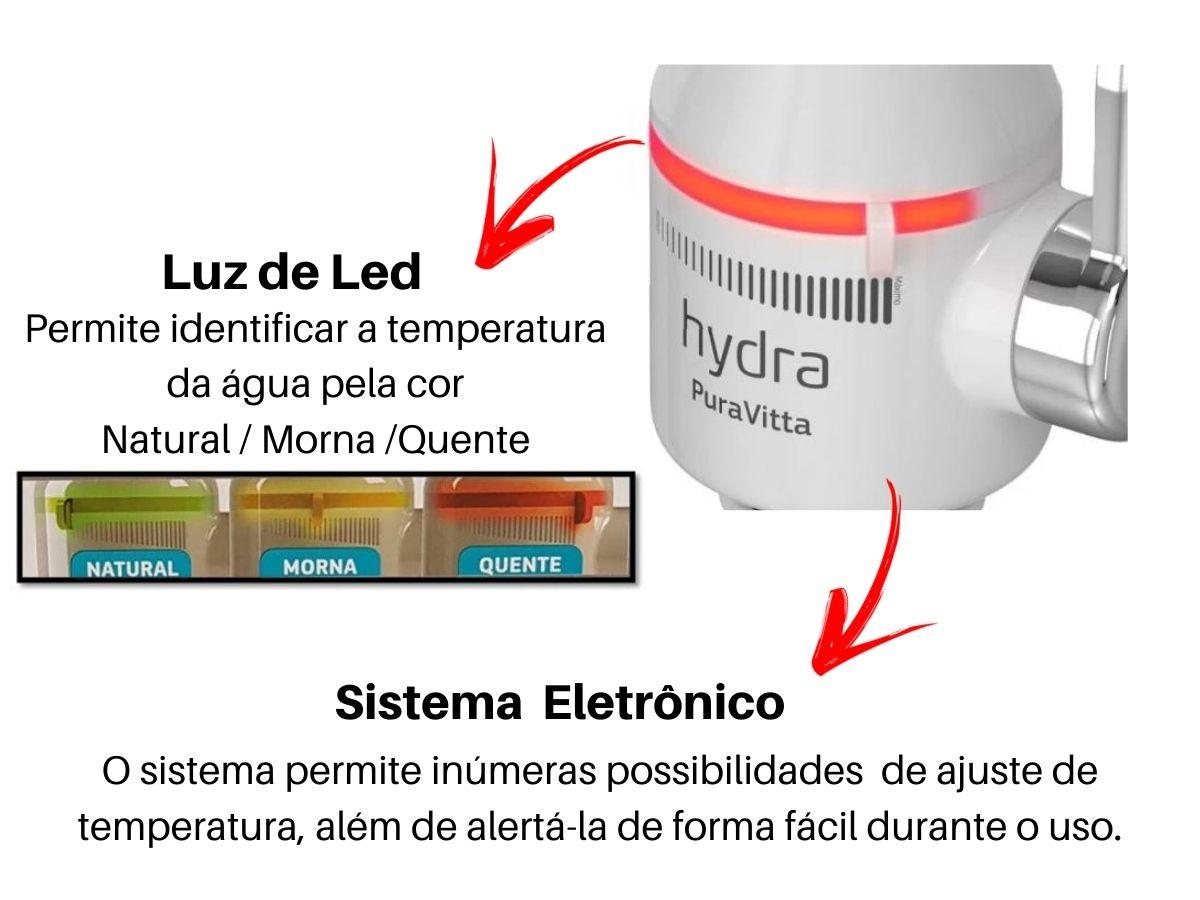 Torneira Eletrônica Hydra Pura Vitta De Cozinha Branca Parede