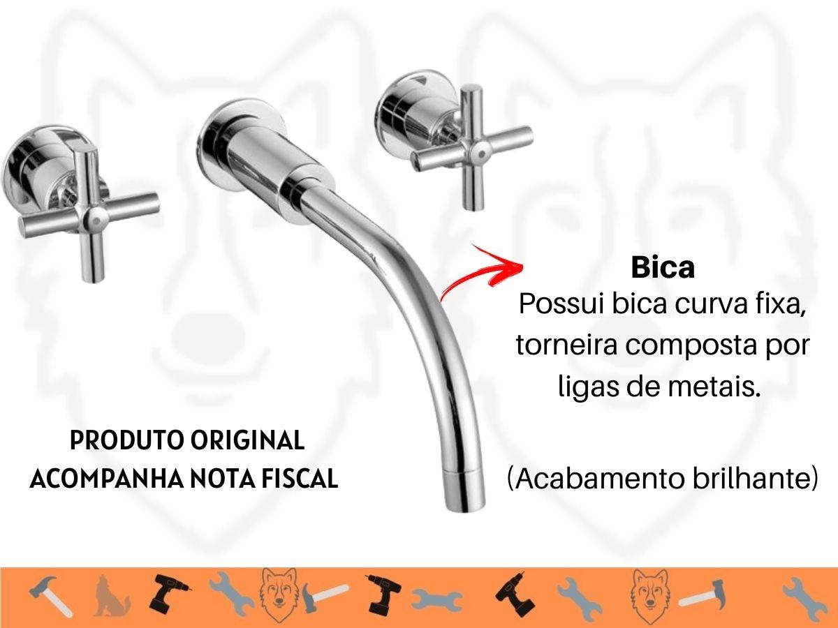 Torneira Misturador Higiban Capri Lavatório 1/4 De Volta Metal