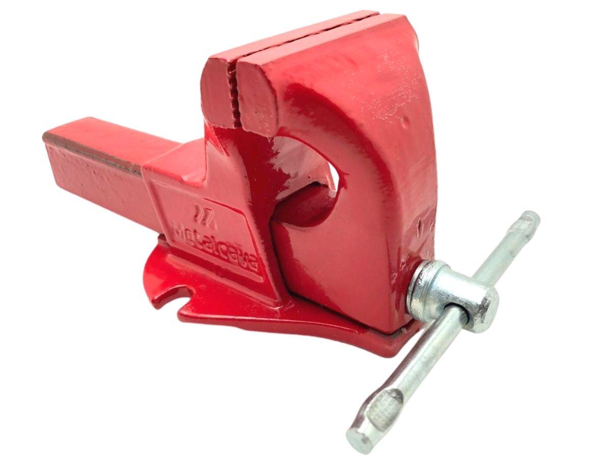 Torno Morsa De Bancada Industrial Metalcava N° 3 Vermelho