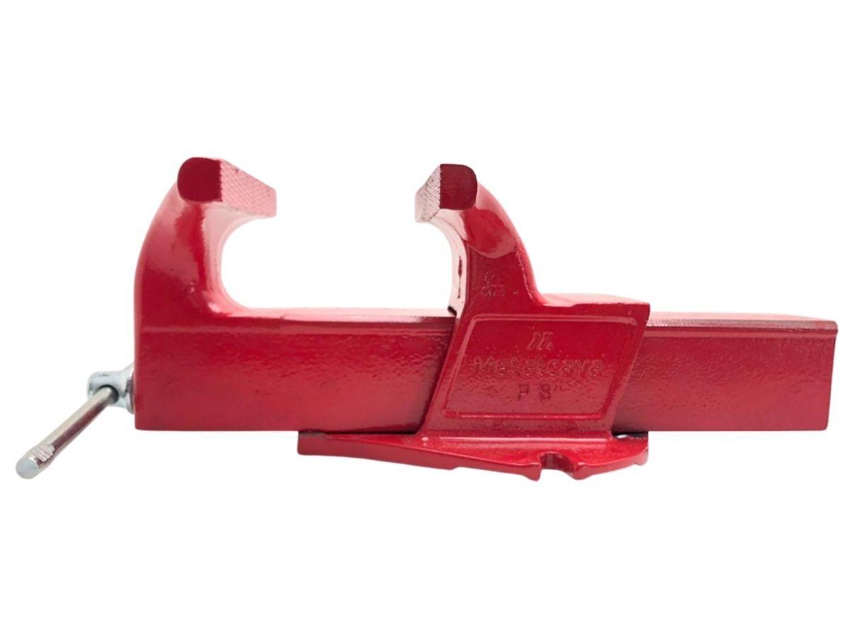 Torno Morsa De Bancada Profissional Metalcava N°8 Vermelho