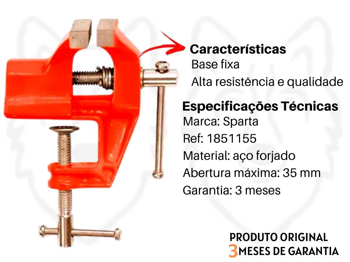 Torno Morsa De Bancada Sparta 1851155 75 mm Com Suporte