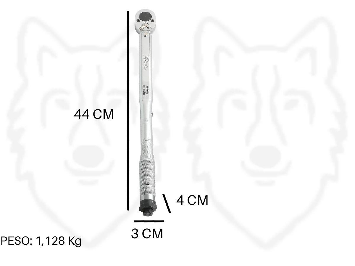 """Torquímetro De Estalo MTX 141609 1/2 """" Aço Cromo Vanádio"""