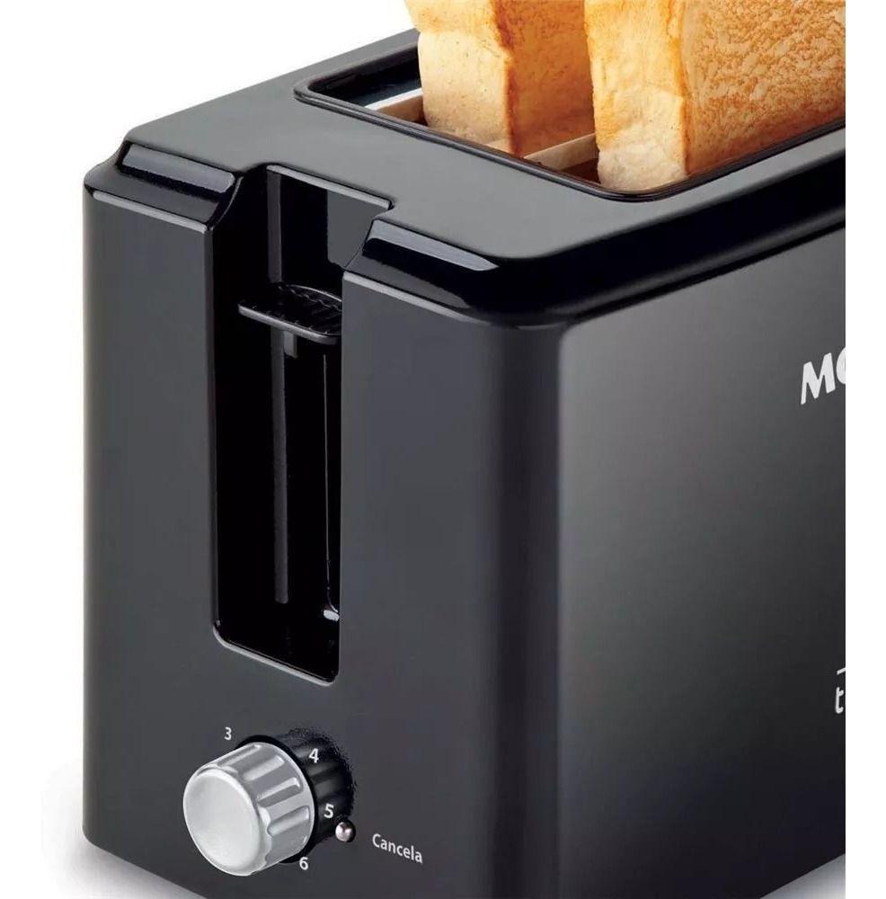 Torradeira Elétrica Mondial T-05 Toast Due Black 800w