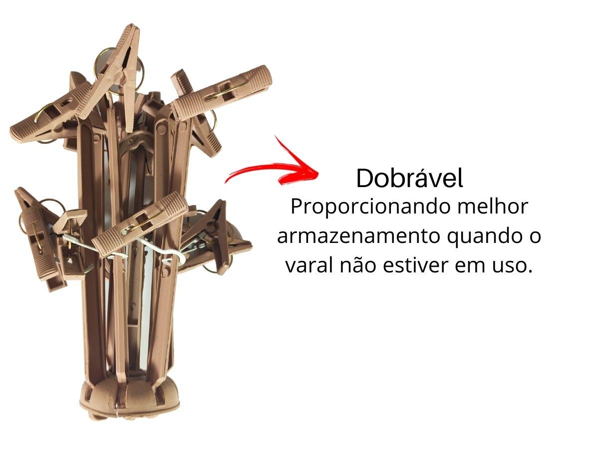Varal De Pendurar Circular Multiuso 16 Prendedores Sanshin P/ Peças Delicadas