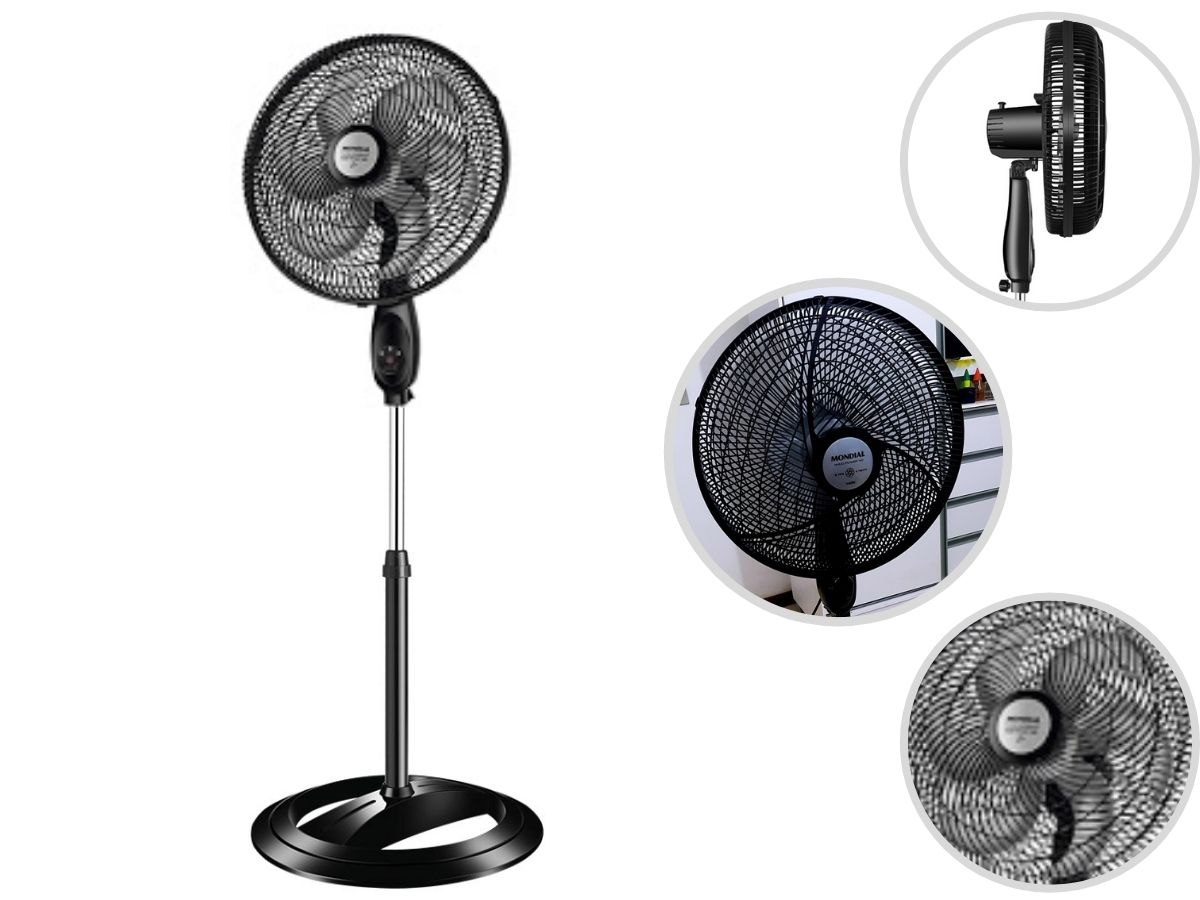 Ventilador De Coluna 40cm Mondial Nv-61 Maxi Power 140w Turbo Silencioso
